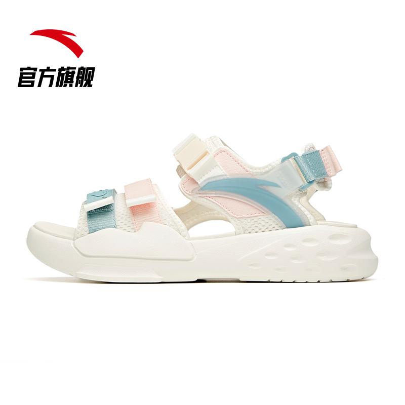 安踏凉鞋女鞋2021年新款夏季户外平底时尚软底鞋子潮女士运动凉鞋