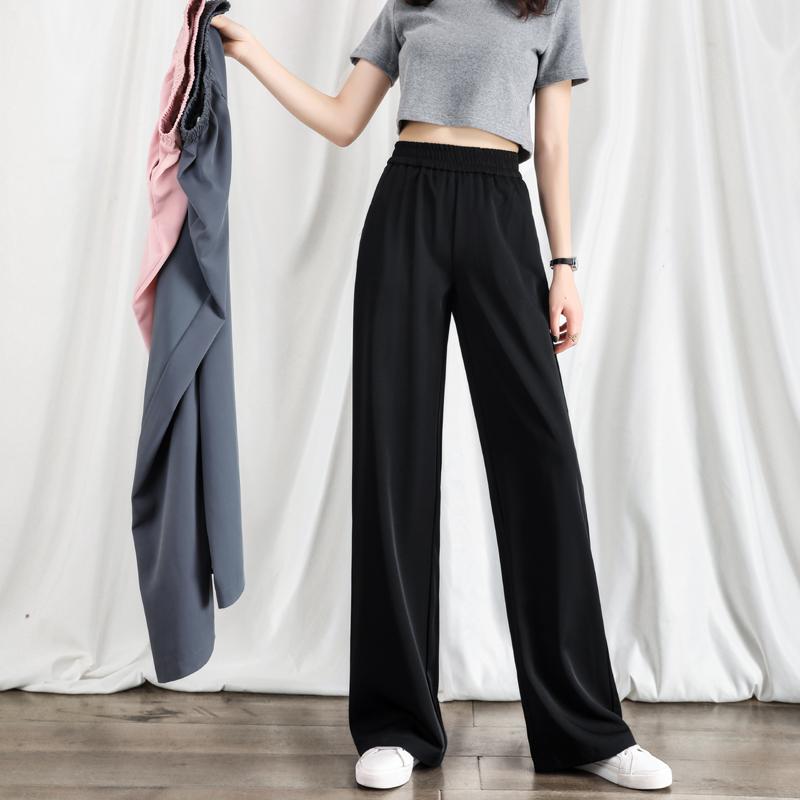 阔腿裤女夏季高腰垂感春秋2021新款休闲宽松直筒显瘦拖地西装裤子