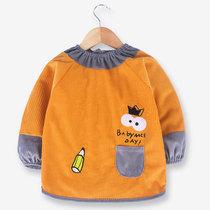 2岁4公主防水婴儿罩衣穿衣花边长袖吃饭反宝宝女童衣0