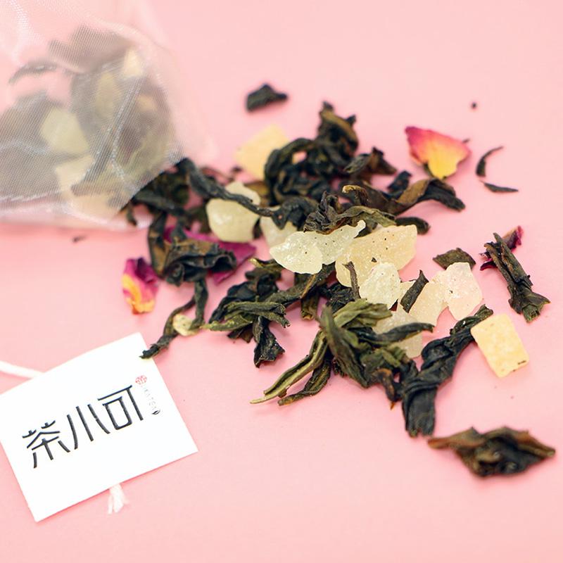 LIKATEA茶小可蜜桃乌龙水蜜桃果茶台湾白桃玫瑰花三角方便泡茶包