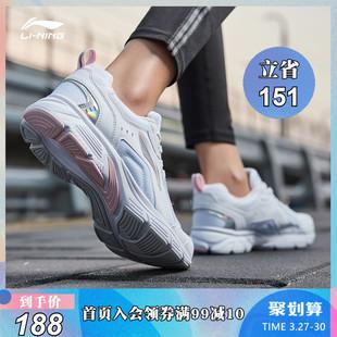 子复古运动鞋 女鞋 鞋 跑鞋 李宁跑步鞋 新款 减震耐磨防滑情侣鞋