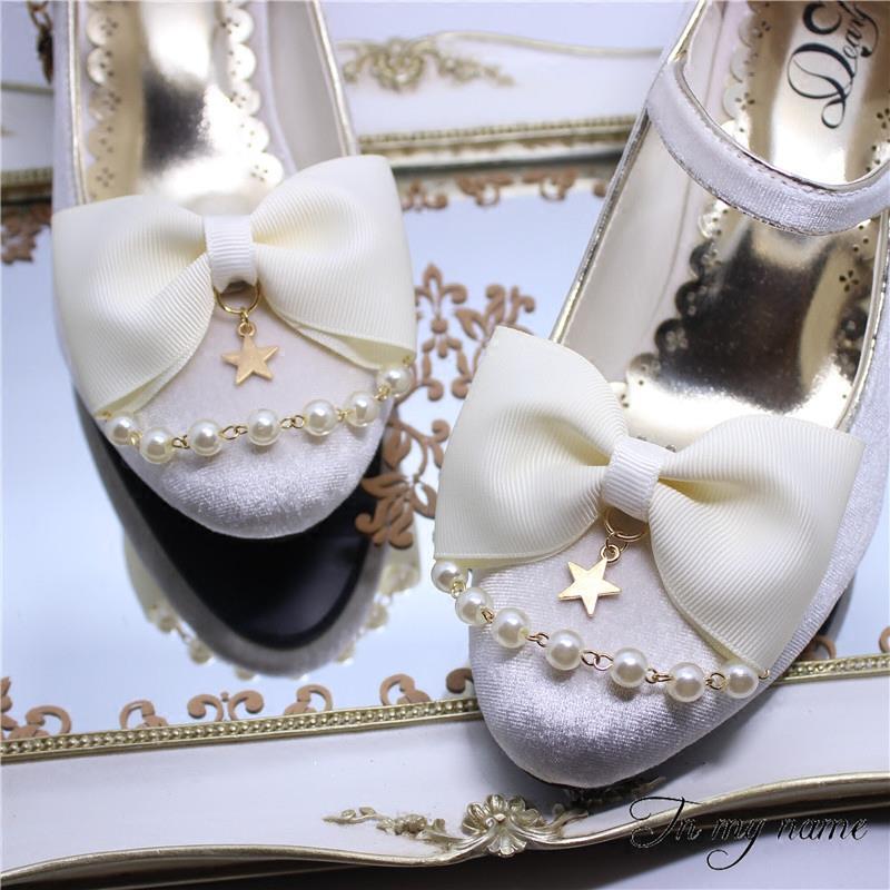 鞋夹蝴蝶结软妹甜美少女鞋扣鞋花装饰可拆卸鞋花鞋饰配件星星鞋夹