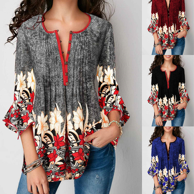 asual Loose Ladies Tops Female Blouse Plus Size Clothing 5XL