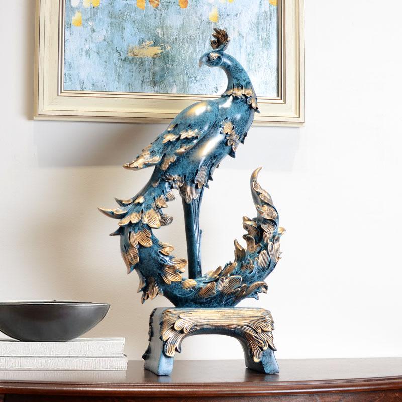 凤凰摆件工艺品风水招财家庭装饰室内装饰品家居客厅创意摆设欧式