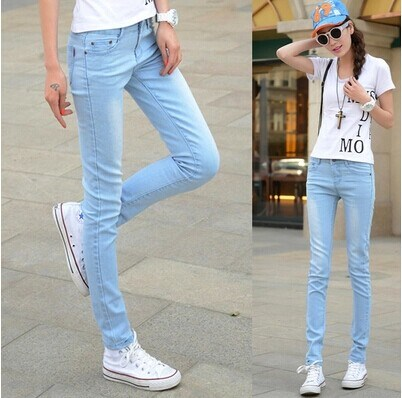 Spring and summer girls Leggings thin elastic casual pencil womens jeans Summer Low Waist Pants trend
