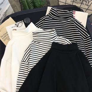 2020年新款女装春季2019加厚内搭洋气高领加绒打底衫秋冬保暖上衣