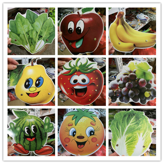 Childrens game performance headdress role play paper props fruit cartoon characters vegetable animal performance accessories