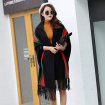 韩版结婚红色伴娘披肩姐妹团礼服围巾两用女冬季加厚保暖百搭披肩