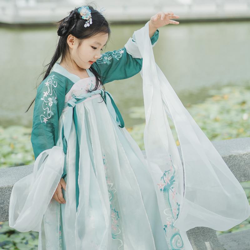 【玉龙魄-丸子小妹妹】女童汉服2019年秋季春装新款秋款襦裙10-12(非品牌)