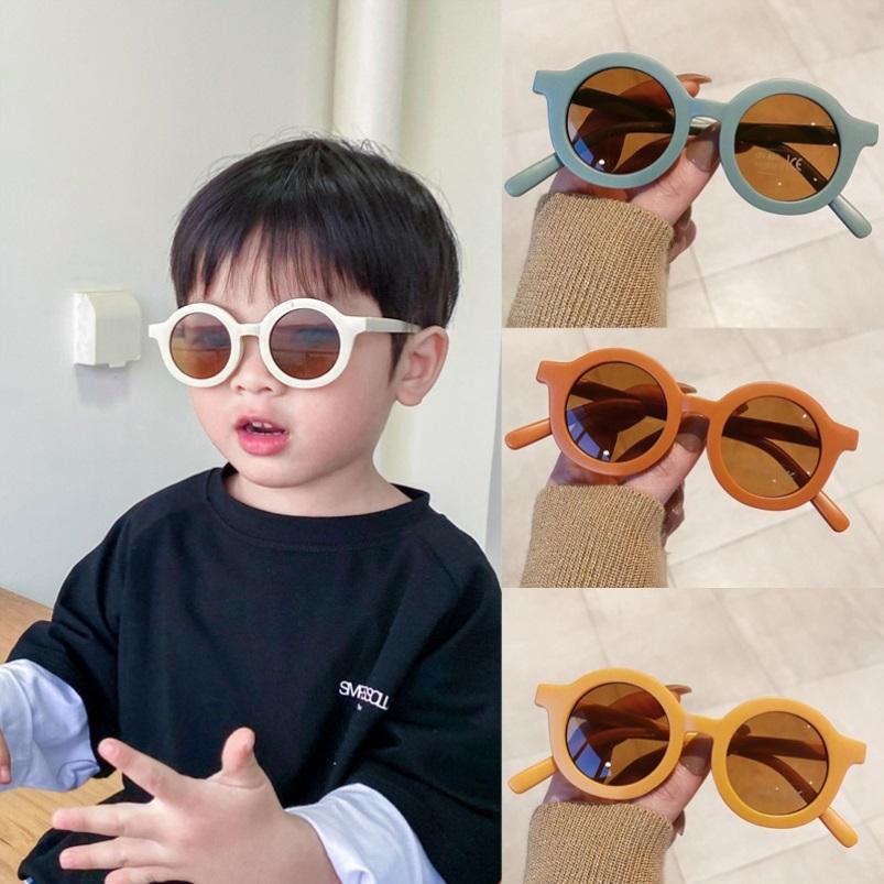 中國代購 中國批發-ibuy99 太阳镜 儿童圆框太阳眼镜奶油色系新款 潮男女宝宝晒太子镜墨镜遮阳镜