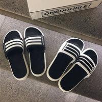 查看2021新款拖鞋男夏时尚外穿韩版潮流凉拖软底室外沙滩鞋防滑一字拖价格