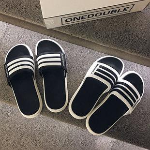 拖鞋 外穿韩版 男夏时尚 2021新款 潮流凉拖软底室外沙滩鞋 防滑一字拖