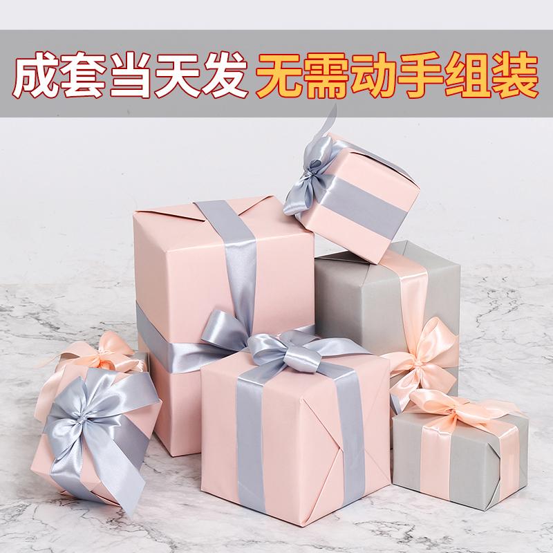 臻赟圣诞礼盒装饰品圣诞树装饰定制粉色服装店铺堆头场景布置橱窗