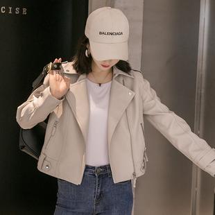 2020春秋季新款小皮衣女短款外套韩版修身百搭学生机车服pu皮夹克