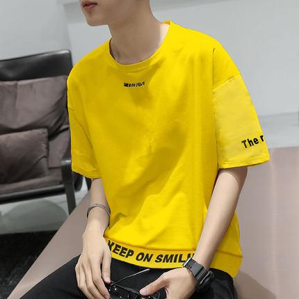 短袖男潮牌韩版宽松个性衣服男潮流半袖男士短袖t恤帅气学生体恤