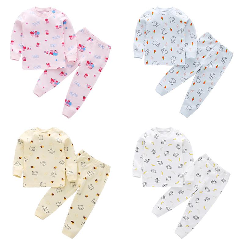 婴儿秋冬内衣套装纯棉男女宝宝睡衣套装0-1-3岁新生幼儿内衣内裤