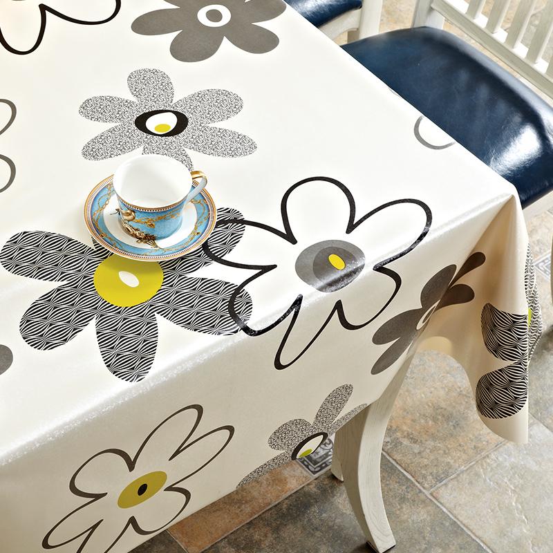 (用3元券)网红桌布防水防烫防油免洗餐桌布