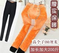 冬季高腰外穿加厚加绒超厚加肥加大码特厚打底裤女加长高个子超长