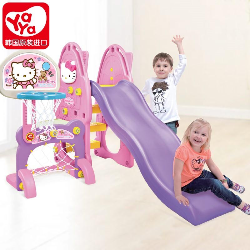 18年新款韩国yaya儿童玩具滑梯室内家用游乐场3-6岁宝宝小型秋千