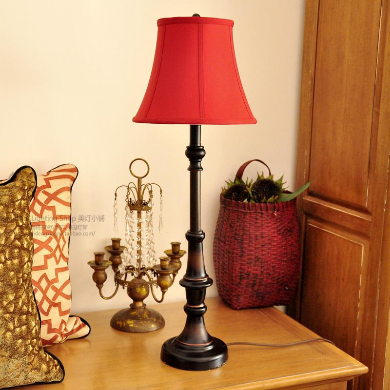 【主题曲】台灯美式经典复古乡村文艺简约卧室床头边桌