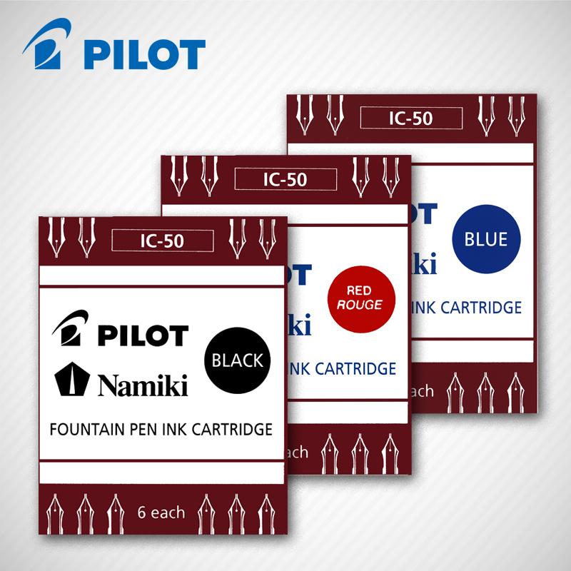 PILOT百乐墨囊IC-50一次性墨胆6支装适用于78g/贵妃/笑脸百乐钢笔
