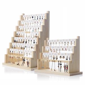 創意首飾架收納陳列耳環架家用掛項鏈耳夾耳釘架子道具飾品展示架