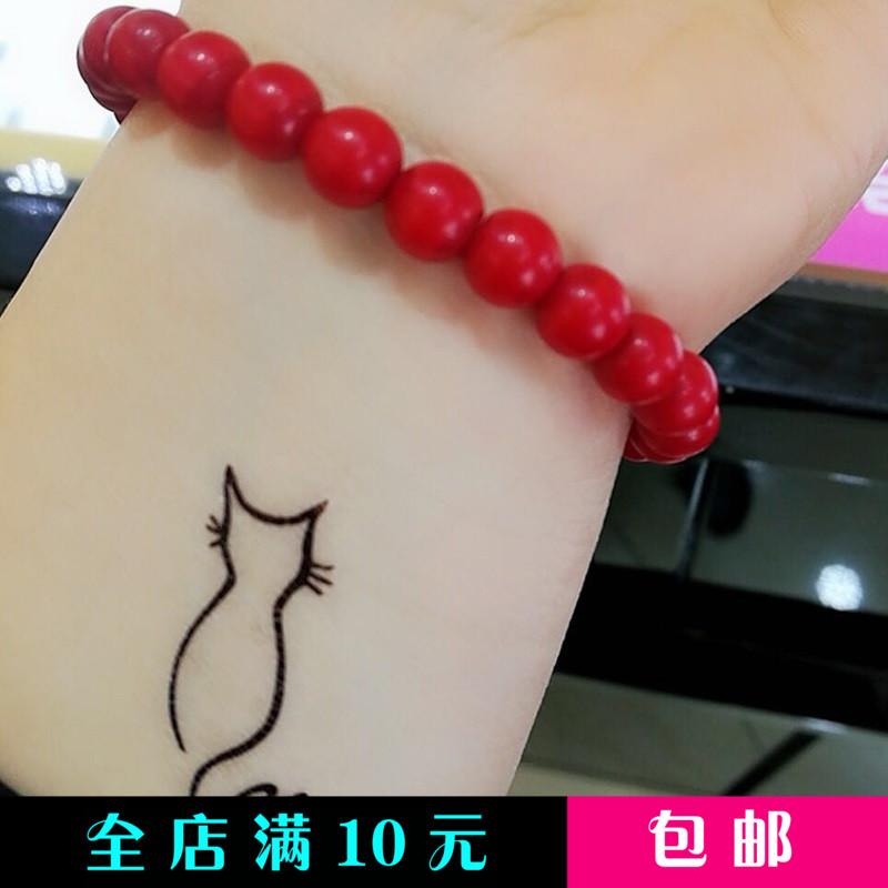韩国少女手绘简约防水仿真纹身贴热销3件买三送一