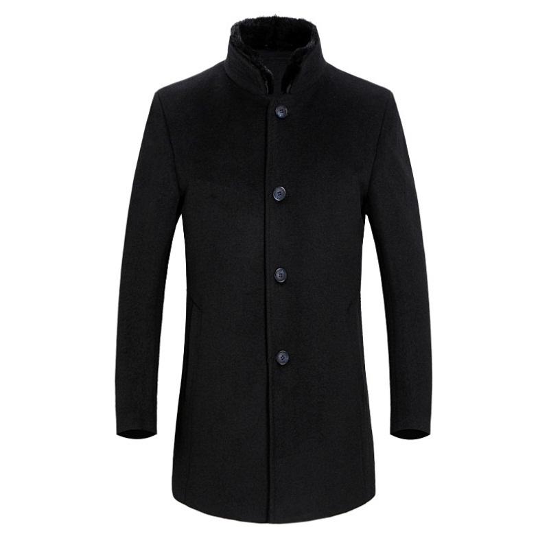 秋冬装男秋冬男士羊绒夹克可脱羽绒内胆中年爸爸装羊毛呢加厚外套