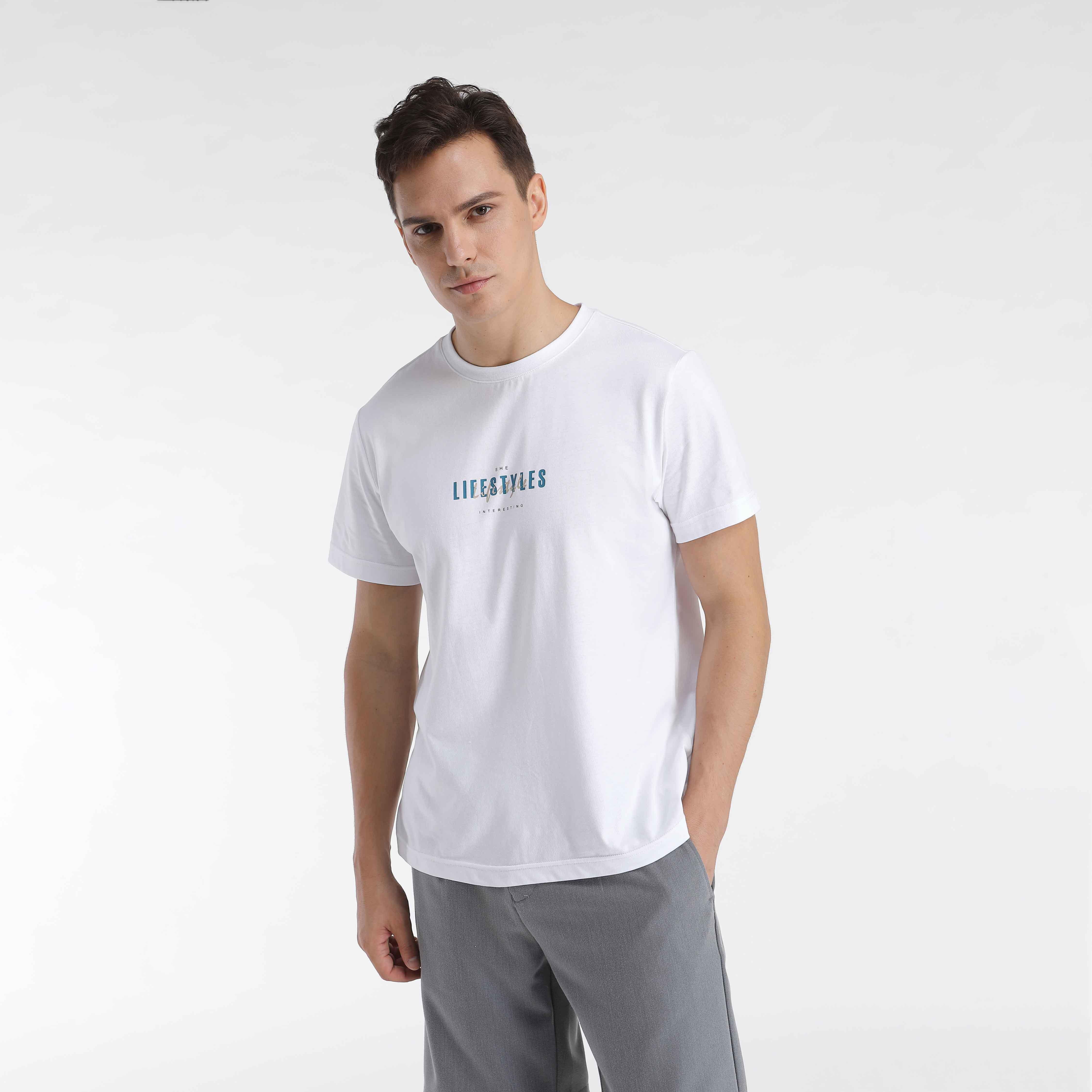港时力2020年夏季 ins潮 个性印花 纯棉圆领宽松男女同款短袖T恤