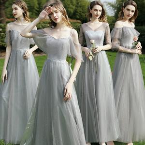 伴娘服2021新款夏季仙气质姐妹团裙闺蜜装伴娘礼服女平时可穿显瘦