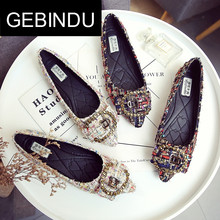 Gebindu single shoes women's flat bottomed pointed toe 2018 spring new Korean style all-around Ladybug shoes 32 Ship shoes 43 big
