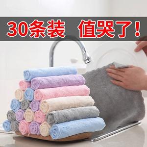 洗碗布抹布家務清潔廚房用品家用不掉毛不沾油吸水去油擦桌子毛巾