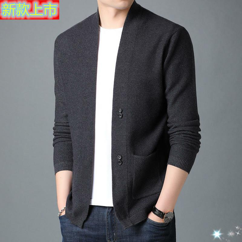 Mens casual long sleeve knitted sweater 361