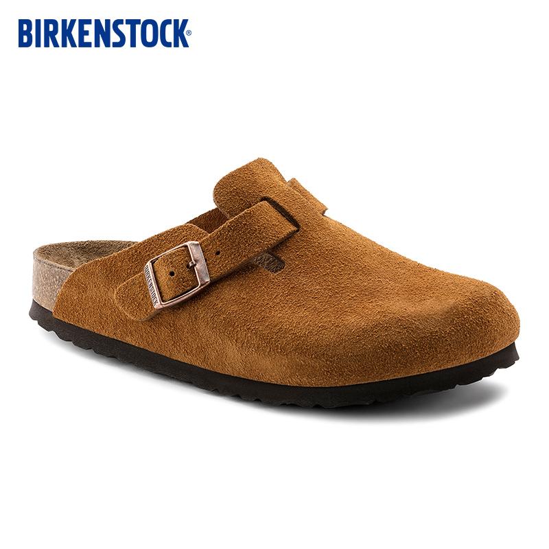 BIRKENSTOCK包头软木拖鞋女款外穿时尚软底拖鞋Boston系列