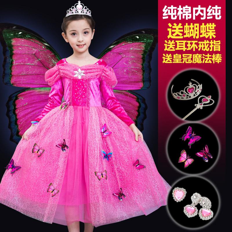 子供のシンデレラのワンピースと雪の女王のスカートの女の子の赤いハロウィンのドレスのスカートのディズニーのロングスカート