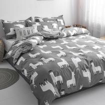 寝室被单3米单人学生床单三件套1.2m网红床上用品四件套被套宿舍