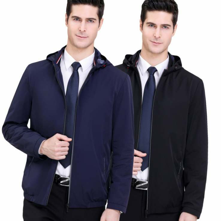 Wear seven brand spring mens jacket 2020 middle aged mens fashion hooded collar business casual jacket jacket man