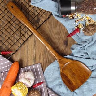 木铲子不粘锅专用耐高温无漆家用木锅铲木质长柄防烫木头炒菜铲子