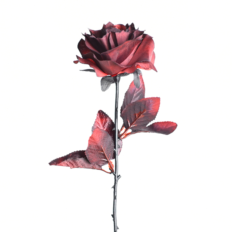 Affectionate red simulation rose dark red photography props Gothic false dry bouquet bad JK decoration