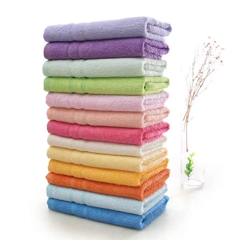 包邮六条装堡纳丝竹纤维竹浆纤维儿童小毛巾中巾标准成人毛巾