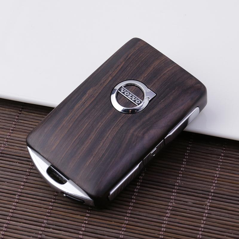 适用于沃尔沃钥匙壳 XC90  XC40  XC60 S60 S90钥匙套 全实木改装