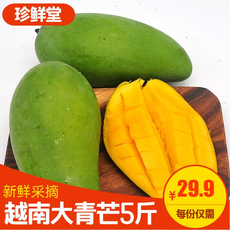 越南正宗大青芒5斤新鲜当季水果大青芒果非金煌芒台农甜心芒