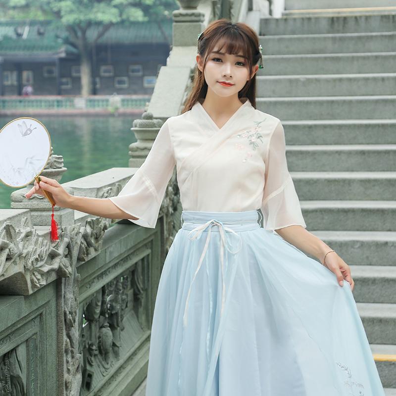 热销0件需要用券古装公主学生日常装汉元素改良襦裙