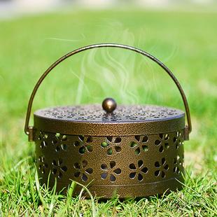 创意蚊香盘托蚊香架蚊香盒带盖防火家用室内户外便携式蚊香炉日式