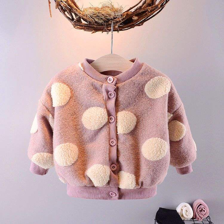 Girls tweed coat 2019 new autumn clothes boy girl baby thickened autumn winter cloaks womens treasure foreign style jacket
