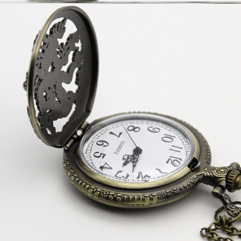 Clock for the elderly multi-functional special student art nostalgic Mechanical Pocket Watch Full Automatic women and men home