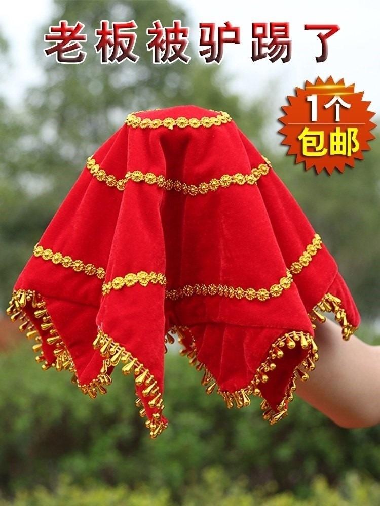 Prop handkerchief Juan Hua folk dance dance handkerchief bright red girl performing yangko dance soft handkerchief
