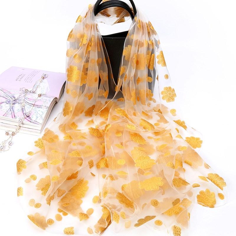 丝巾女士春秋冬季百搭围巾防晒披肩超大长款纱巾薄款多功能沙滩巾