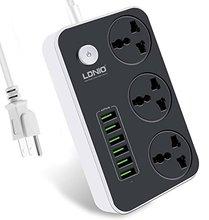 插座 美标插线板出国转换插排美国台湾加拿大日本接线板带USB美式