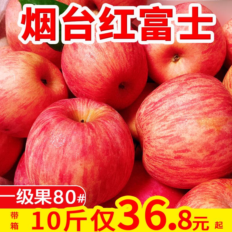 烟台红富士苹果9斤苹果水果新鲜当季整箱栖霞富士甜脆苹果10